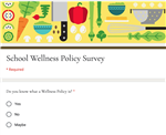 School Wellness Policy Survey