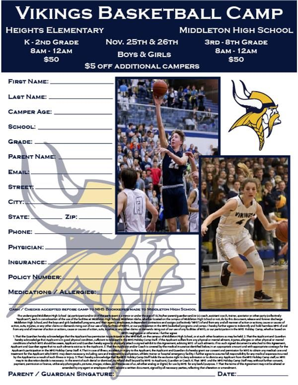 Vikings Basketball Camp - November 25-26, 2019